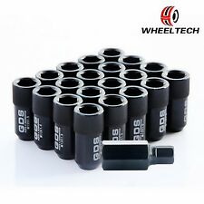 20X GDS Black Extended Wheel Lug Nuts M12X1.5 For Honda Civic Acura Integra 42mm