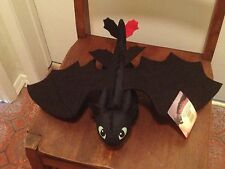 "NWT DreamWorks Dragons: How to Train Your Dragon Spin Master 14"" Plush Toothless"