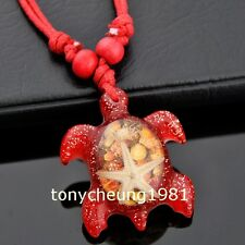 Fashion red hawaiian surfing turtle shell necklace W207
