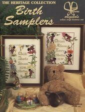 Vintage Birth Samplers Counted CROSS STITCH Patterns by JANET POWERS