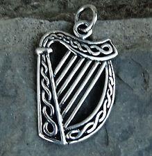 Irish Harp Anhänger 925 Sterling Silber Biker  Isle of  Man Kelten Bikerschmuck