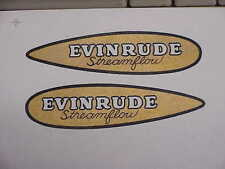 Evinrude Streamflow Bicycle Decal Set of two 1930s Water Slide like orignal