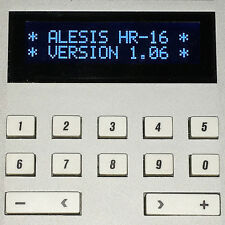 ALESIS HR-16 HR-16B & MMT-8 LCD DISPLAY - REPLACEMENT SCREEN - DARK BLUE