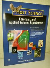 HOLT FORENSICS Science 8th 9th 10th 11th 12th Experiments Homeschool Workbook