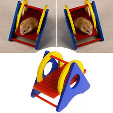 Rainbow Wooden Swing Exercise Sport Funny Toys For Small Animal Hamster Rat Pets