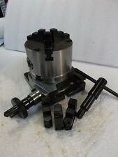"4"" ROTARY TABLE W/ 3 JAW CHUCK **NEW** PIC#"