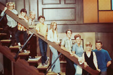 THE BRADY BUNCH TV CAST ON STAIRS 36X24 POSTER PRINT