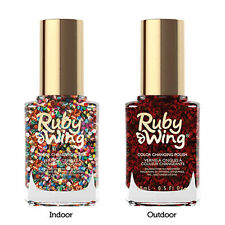 Ruby Wing Solar Color Changing Lacquer Nail Polish Sparkle & Shine 0.5 fl. oz