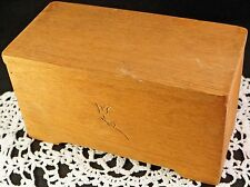 Neat Old Hand Made Wood Wooden Box with Incised Rose Fitted Lid Store Valuables