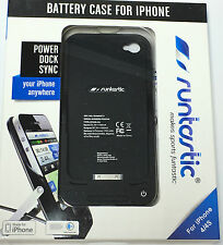 RUNTASTIC BATTERY CASE iPHONE 4/4S ZUSATZAKKU NEU RUNBAT1