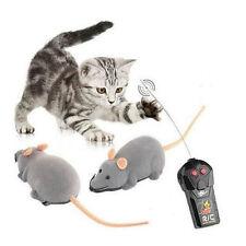 Remote Control RC GRIGIO RAT MOUSE GIOCATTOLO PER CANE / GATTO PET novità regalo divertente