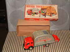 YAMAICHI CRAGSTAN, FRICTION POWERED REFUSE TRUCK. PERFECTLY WORKING W/BOX! RARE*