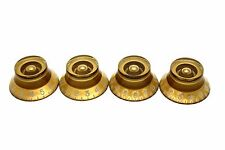 4x GOLD SKIRTED TOP HAT SPEED KNOB FOR GIBSON EPIPHONE STYLE - CTS OR BOURNS
