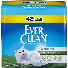 Ever Clean Extra Strength Cat Litter Unscented 42 Pound Bag