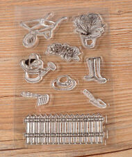 Hot Garden Tool Fence DIY Silicone Transparent Stamp Embossing Rubber Stamp