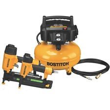 BOSTITCH Pancake Air Compressor BTFP2KIT  Compressor Combo Kit Bostich warranty