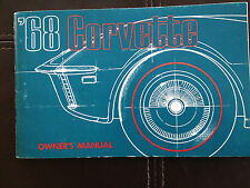 1968 Corvette Factory GM Original Owners Manual Second Edition Full News Card