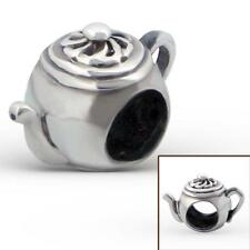 925 Sterling Silver Teapot Shaped Tea Party Bracelet Charm Bead Gift Boxed B550