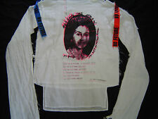 GOD SAVE THE QUEEN MUSLIN BONDAGE WHITE NEW M/L SEDITIONARIES/SEX PISTOLS /PUNK