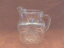 Vintage Fire King Hocking Early American Prescut EAPC 40 Oz Square Pitcher-HTF