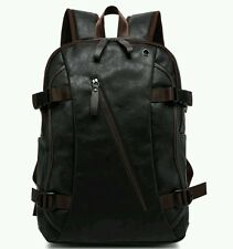 New Vintage Black Men's Leather Backpack Briefcase rucksack laptop book bag