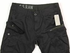 Men's G-STAR RAW Black Cargo Pants 34x32 34 32 NWT NEW Rovic Zip 3D Tapered $180