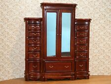 1/12th scale  Dolls House Furniture    Break Front Wardrobe - walnut       RO328