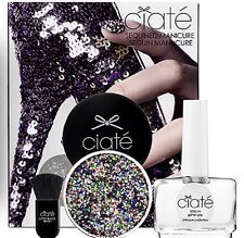 CIATE Sequined Manicure Kit Multi-Color Harlequin Nail Polish Set Sequin Lacquer