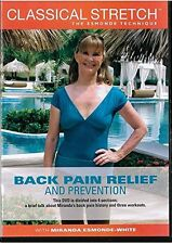 New Classical Stretch Back Pain Relief & Prevention DVD Miranda Esmonde White