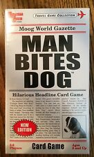 """Man Bites Dog"" Headline Card Game, Family Fun, Great Stocking Stuffer NIB"