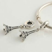 EIFFEL TOWER 925 Sterling Silver Solid European Dangle Charm Bead for Bracelet