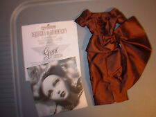 "Gene Marshall ""Cognac Evening"" Brown Silk Dress ONLY MINT Integrity/Ivy/Madra"