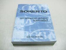 Kia Sorento 2003 taller de mano libro Repair manual suplemento a3es-eg26b