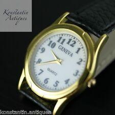 Quartz Geneva Unisex modern Watch in gold colour Arabic numerals