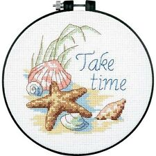 NEW Dimensions D73060 | Take Time Beginners Counted Cross Stitch Mini-Kit | 15cm