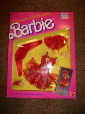 Vintage Barbie Fashion Private Collection 4510 Red Dress Gold 1987 NIB Shoe NRFB