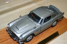 DANBURY MINT ASTON MARTIN JAMES BOND SILVER BIRCH DB5 COUPE WITH PLINTH & COVER