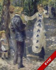 WOMAN ON A STEP SWING AUGUSTE RENOIR FRENCH PAINTING ART REAL CANVAS PRINT