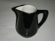 "VINTAGE BLACK & WHITE MAYER CHINA 3.50"" CREAMER 263 GOLD TRIM MINI PITCHER SYRUP"