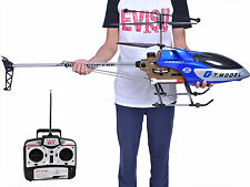 53 Inch Extra Large GT QS8006 2 Speed 3.5 Ch RC Helicopter Builtin GYRO Blu
