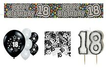 18th BIRTHDAY PARTY PACK DECORATIONS BANNER BALLOONS CANDLE CONFETTI (EX.BL.5)