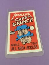 Metallica The Cap'ns of Krunch Tour Backstage Pass - Original Unused Stock Item