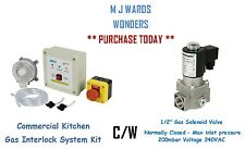 "CUCINA Commerciale Gas Interlock SYSTEM KIT C / W 1/2 ""GAS VALVOLA SOLENOIDE-N / C"
