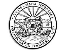 """OMAHA NEBRASKA CITY SEAL 4"""" HELMET STICKER DECAL MADE IN USA"""