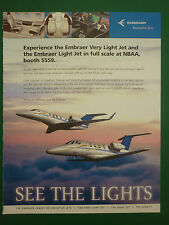 11/05 PUB EMBRAER EXECUTIVE JETS BRAZIL LEGACY PHENOM AIRCRAFT AVION FLUGZEUG AD