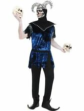 Smiffy's Corrupt Court Jester Adult Fancy Dress Halloween Skeleton Custume Large