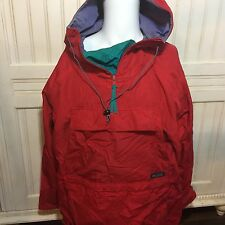 VTG COLUMBIA SPORTSWEAR Pull over 1/4 Zip Windbreaker Jacket 90s Size L FLAW