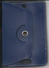 "10"" 10.1"" Android Tablet Universal PU Leather Case Rotating 360 Blue"
