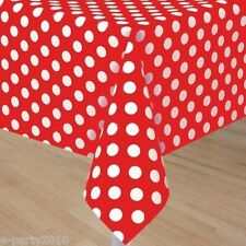 RED POLKA DOT PLASTIC TABLECOVER ~ Birthday Party Supplies Decorations Summer