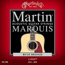 Martin M1100 Marquis Light 80/20 Bronze Acoustic Guitar Strings .012-.054
